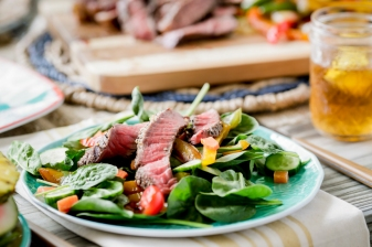 Steak Salad: Food Photography for Beef Loving Texans